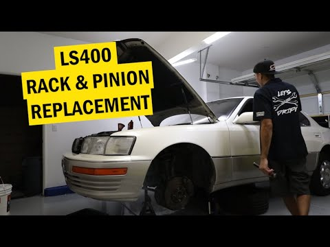 HOW TO REPLACE A RACK & PINION LEXUS LS400