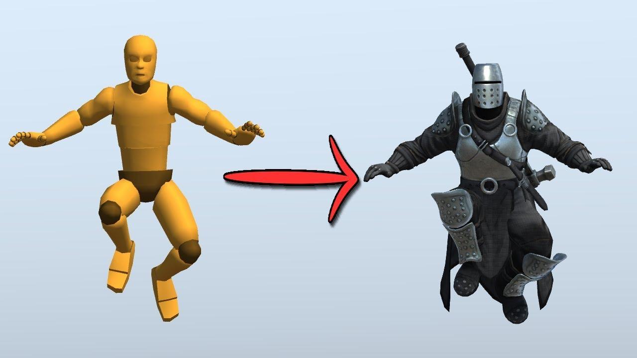 Animation Retargeting humanoid animation retargeting tutorial - unity 3d