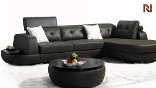 Modern Fabric Sectional Sofa Set With Coffee Table Vgmb1018