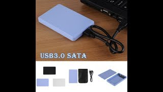 USB 3.0 SATA 2.5 Inch Hard Drive External Enclosure HDD unboxing