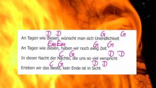 Tage wie diese-Die Toten Hosen-Lyrics and Chords-Complete Song-Play Along- Musikschach