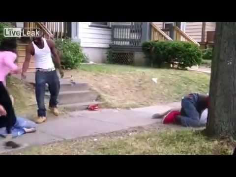 Nasty blood brawl in Rochester,NY