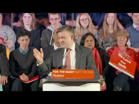 Jon Ashworth and Jeremy Corbyn speak at National Health Service rally - 25/01/18