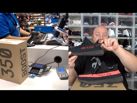 Yeezy 350 V2 Bred Release Day DRAMA & Live Pickup with Sneaker Review