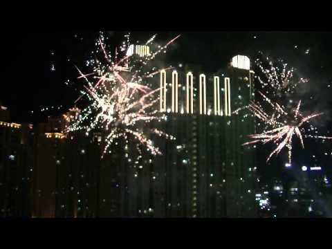 Fireworks Show at Central Park, Jakarta.