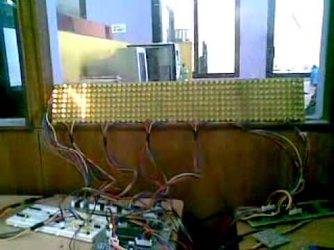 Led Moving Display 8x48