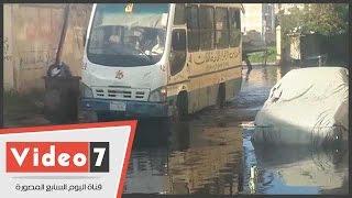 مساكن ضباط طوسون فى أبوقير بالإسكندرية تغرق فى مياه الأمطار