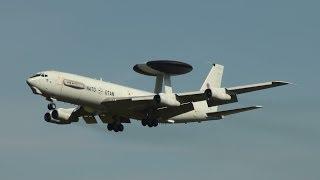 NATO Boeing E-3A AWACS Landing at Berlin Schönefeld Airport for ILA 2012 HD (1080p)