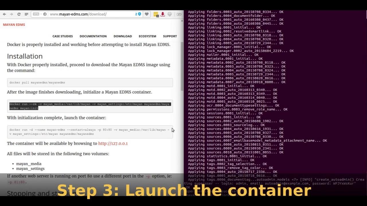 Using Mayan EDMS 2 1 6 Docker image