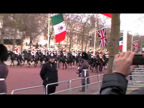 London Ceremonial for Mexican State Visit - March 2015