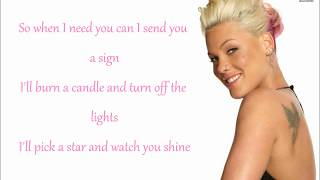 P!nk - Beam Me Up Lyrics