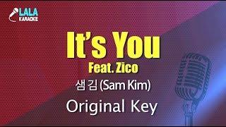 [LaLa노래방] 샘김(Sam Kim) _ Its You (Feat.Zico) / LaLa Karaoke