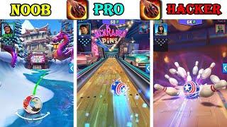 NOOB vs PRO vs HACKER - Bowling Crew — 3D bowling game Max Level Gameplay screenshot 4