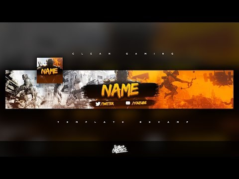 FREE GFX: Free Photoshop Revamp   Banner Template: Clean Gaming (RemainFocus) Style Design [2017]