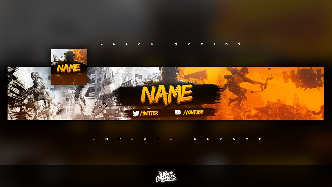 FREE GFX: Free Photoshop Revamp | Banner Template: Clean Gaming (RemainFocus) Style Design [2019]