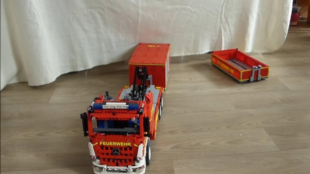 Lego Fire Truck Wlf Full Rc Moc Feuerwehr Youtube