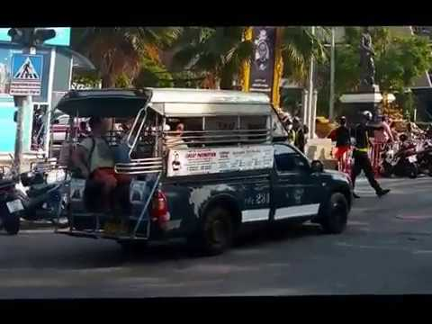 Royal Thai police and Military in action in Pattaya
