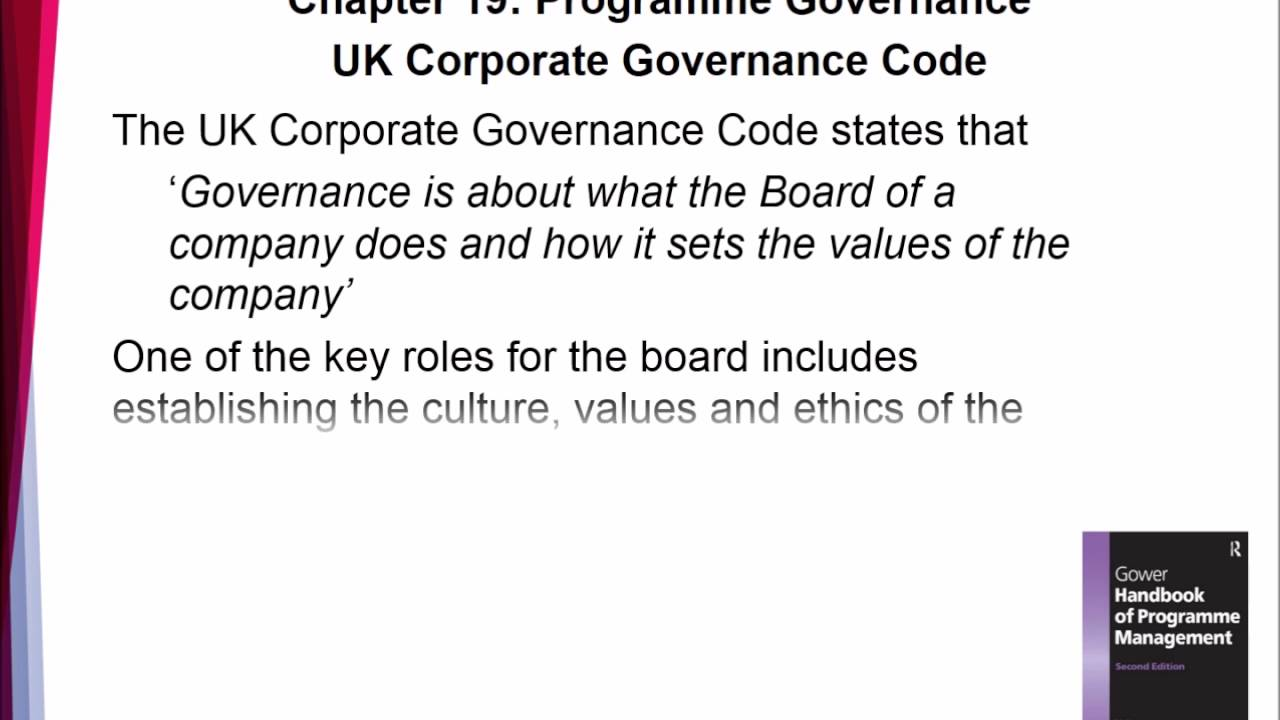 "corporate governance code Summary: on 16 july 2018 the financial reporting council (""frc"") published  the 2018 uk corporate governance code (the ""code""."