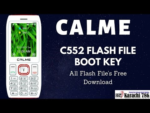 How To CALME C552 Pin Code/Password Remove (CALME C552 Flash File Free Download)