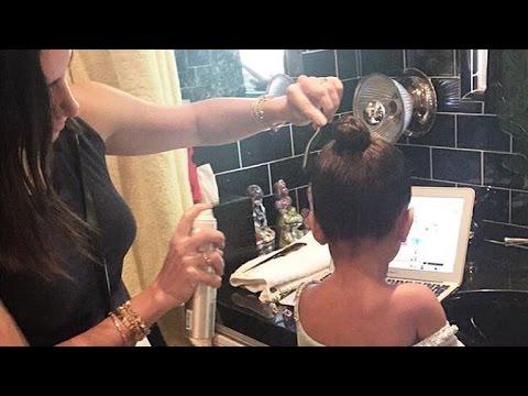 North West Gets Her Hair 'Frozen' by Kardashian Stylist