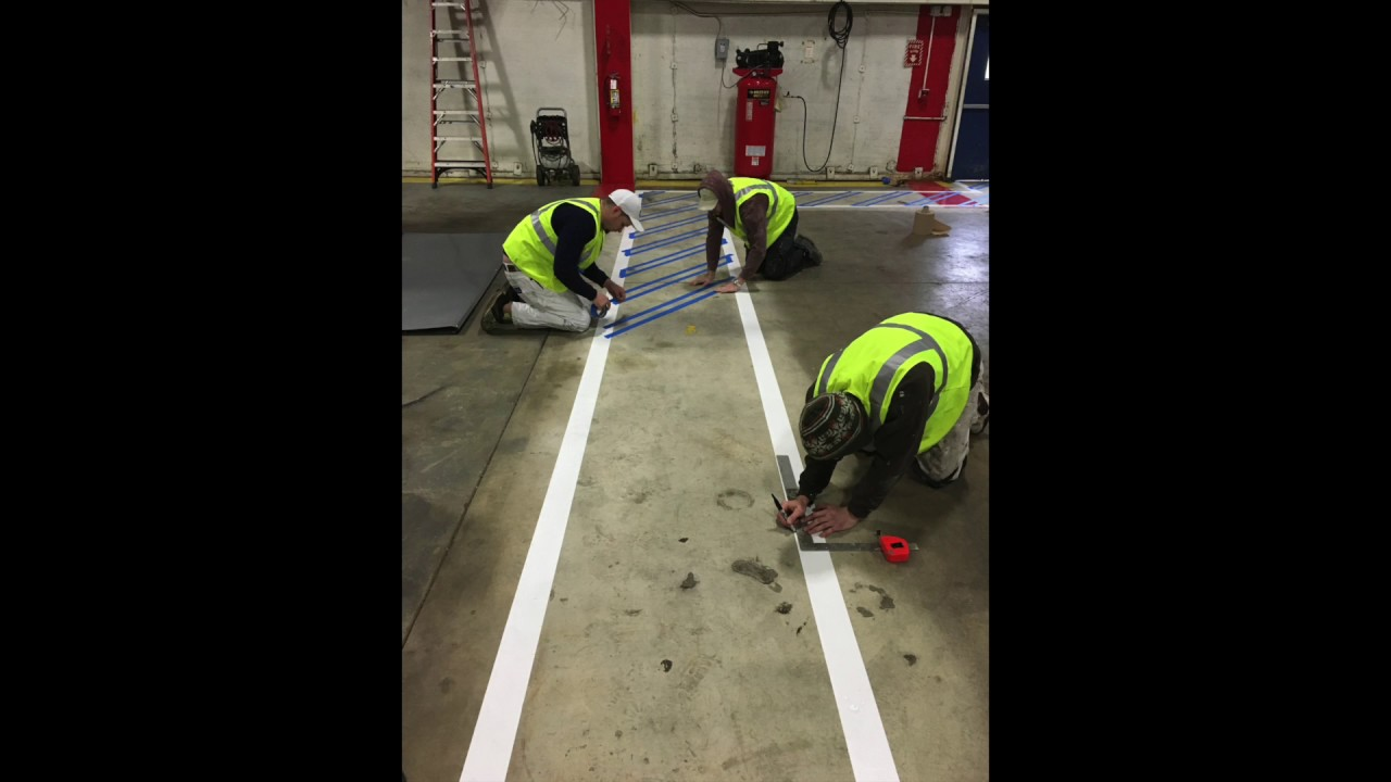 Epoxy Flooring Line Painting
