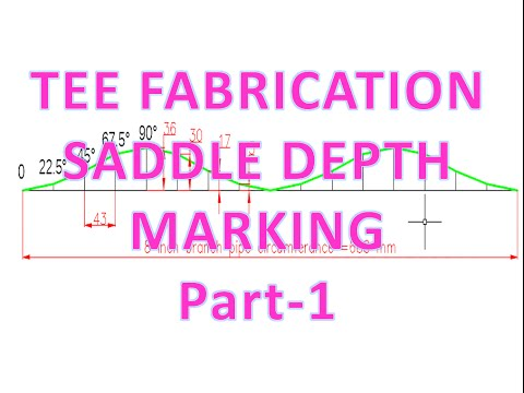 Piping_Tee fabrication/saddle depth/branch hole marking and calculation formula _part -1