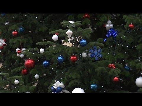 Le sapin est bleu blanc rouge à l\'Elysée cette année