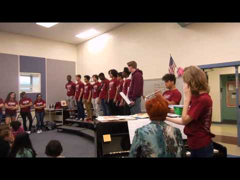 20160427 Burgundy Boys at Battlefield Middle School