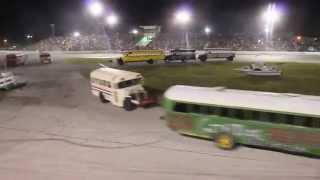 School Bus Figure 8 Race - Auburndale Speedway, FL April 6th 2013