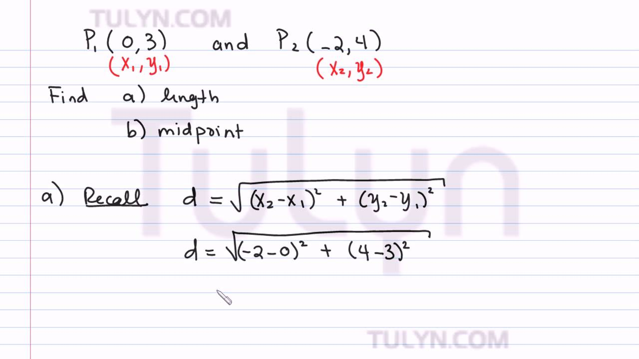 Finding Length And Midpoint Of Line Segment