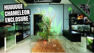 BUILDING an AWESOME central enclosure for my CHAMELEON
