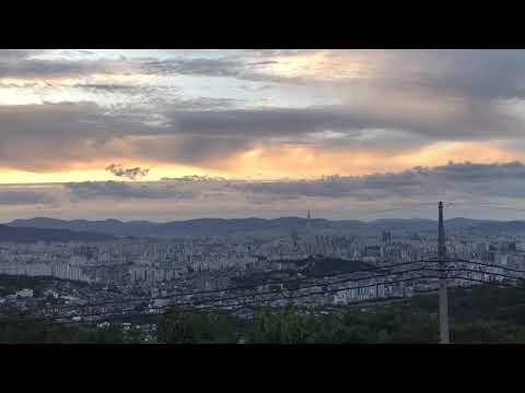 sun rising in Seoul 1080p