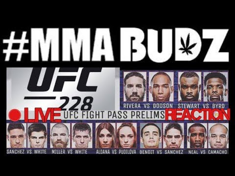 UFC 228 Fight Pass Prelims LIVE Reaction #MMABUDZ