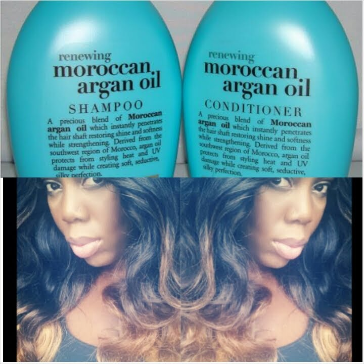 My Ombre Malaysian Hair Care Routine Organix Moroccan Oil Shampoo