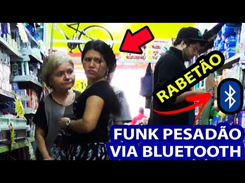 COLOCANDO FUNK PESADÃO MC LAN NO MERCADO VIA BLUETOOTH