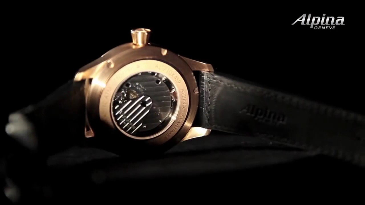 Alpina Watches Startimer Manufacture In K Rose Gold YouTube - Alpina watches