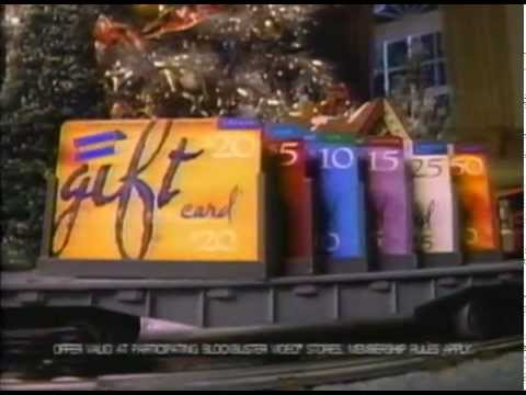 blockbuster gift card christmas 1997 ad for blockbuster gift cards youtube 6403