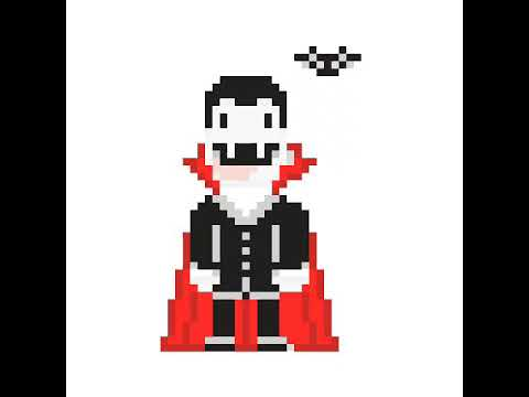 Pixel Art Dun Vampire Et Dune Chauve Souris Youtube