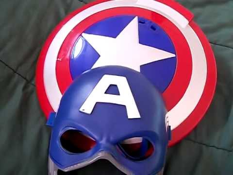 captain america disk launching shield and mask review  YouTube