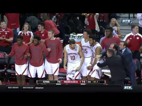 Iowa at Nebraska - Men's Basketball Highlights