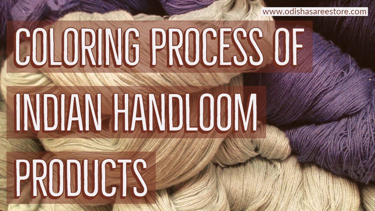 Coloring Process of indian handloom products | Indian sarees | Tye