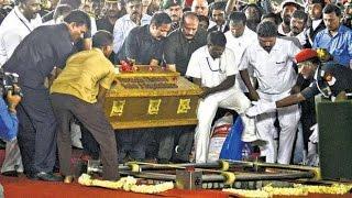 Jayalalithaa buried near MGR Memorial in Chennai