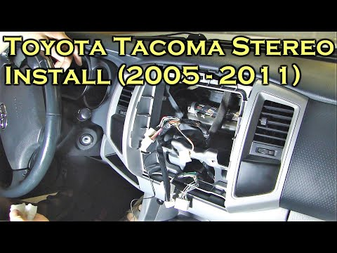 Toyota Tacoma Stereo Install with Bluetooth  - 2005 to 2011