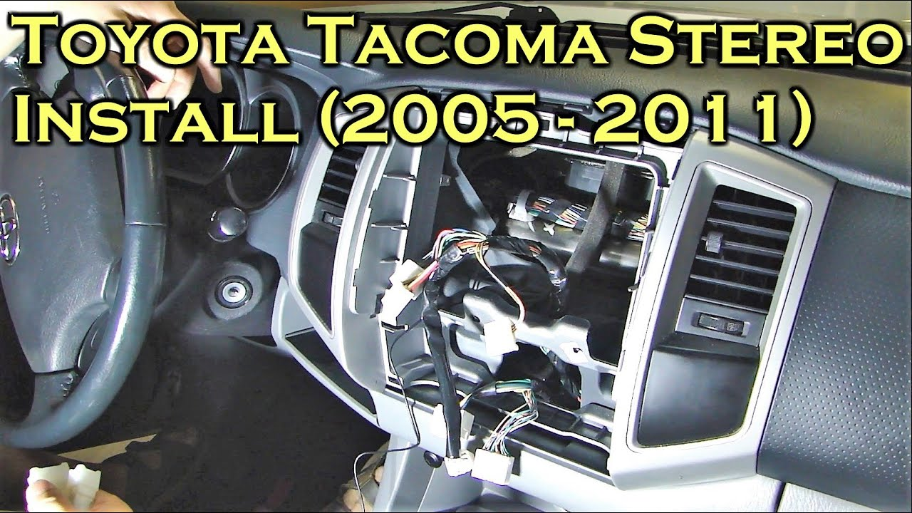 maxresdefault toyota tacoma stereo install with bluetooth 2005 to 2011 youtube tacoma wiring harness at beritabola.co