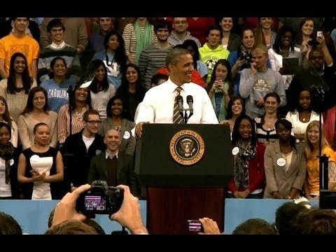 President Obama Speaks on Student Loan Interest Rates in North Carolina