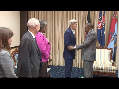 President Kenyatta and John Kerry hold talks on security