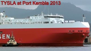TYSLA (Ro-Ro Cargo Ship) Port Kembla Docking 2013