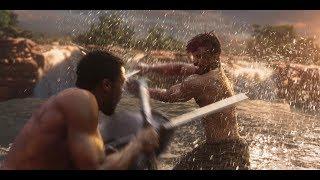 Killmonger fights T'Challa   Black Panther