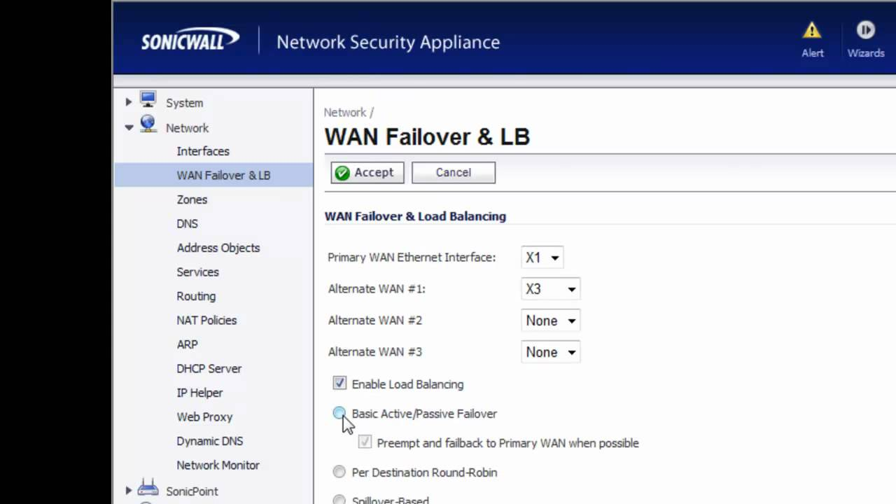 Sonicwall Firewall Wan Failover Youtube