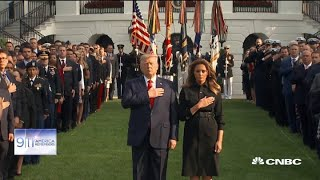 White House observes a moment of silence in memory of 9/11 victims
